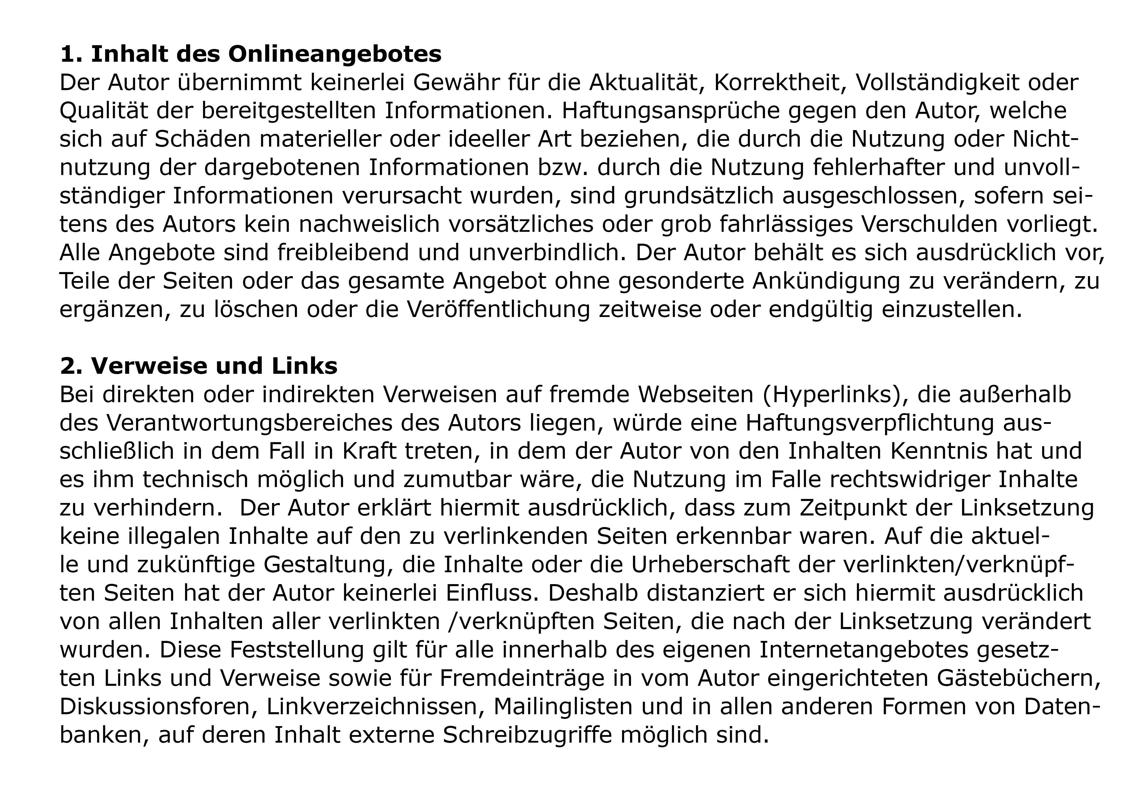 Schwartl Impressum